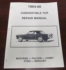 1964-66 Ford Mustang Exact Reproduction Convertible Top Repair Manual