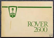 ROVER 2600 Car Owners Maintenance Manual Handbook 1977