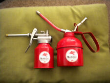 SET OF 2 RETRO REPRODUCTION MOBILOIL OIL CANS( 250cc & 500cc)