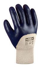 144 Paar Nitril-Handschuhe blau, teilbeschichtet mit Strickbund Gr. 10 1030-010B