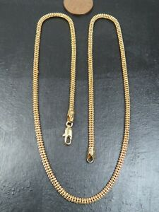 VINTAGE 9ct GOLD POPCORN LINK NECKLACE CHAIN 18 inch C.1990