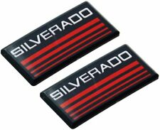 2x Silverado Cab Emblem Badge Side Roof Pillar Decal Plate For Checy Tahoe Red