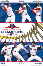 Boston Red Sox 2018 WORLD SERIES CHAMPIONS 6-Player Commemorative Wall POSTER