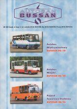 Autosan - Bussan minibus range (made in Poland) _1999 Prospekt / Brochure