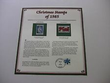 22 Cent Genoa Madonna and Poinsettia Plants 1985 Christmas Stamps