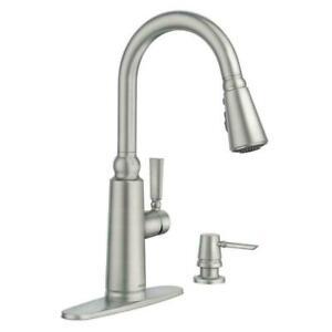 MOEN  Coretta Single-Handle Pull-Down Sprayer Kitchen Faucet Soap NEW