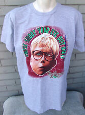 Christmas Story You'll Shoot Your Eye Out Kid Grey Large T-Shirt