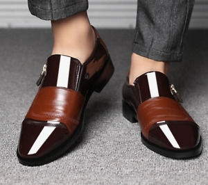 Men's Pointed Toe Faux Leather Dress Oxfords Formal Business Shoes Office Plus