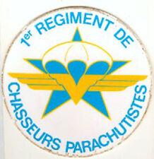 FRANCE - INSIGNE AUTOCOLLANT 1er REGIMENT CHASSEURS PARACHUTISTES