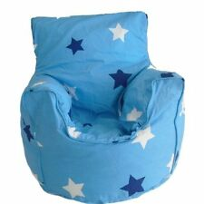 Cotton Blue Stars Bean Bag Arm Chair with Beans Child size From BeanLazy