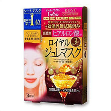☀ Kose Cosmeport Clear Turn Premium Royal Jelly Face Mask 4 Sheets Japan ☀