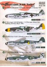 """Print Scale Decals 1/48 MESSERSCHMITT Bf-109K """"KURFURST"""" Fighter Part 2"""