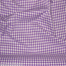"""Mauve Purple & White 1/4"""" CHECKERED BUFFALO GINGHAM COTTON BLEND FABRIC 45"""" BTY"""