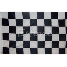 90*150cm Checkered Flag Black And White Flag Motor Sport Car Racing Banner