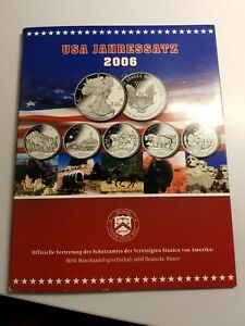 Quarter Dollar x5, Dollar 1 Oz 999 Silver 2006 Set Excellent CONDITION Coins USA