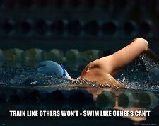Swimming Motivational Poster Art Print Swimwear Swim Youth Women's Mens  MVP477