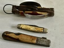 New ListingVintage Lot Huge Survival Fork Spoon Multiple Tool Knife and Big R Arrow & Other