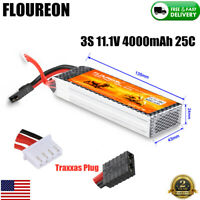 4000mAh 25C 11.1V 3S LiPo Battery Traxxas Plug for RC Car Truck Boat Helicopter