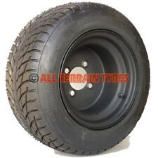 """205/50-10 18x8.00-10 Golf Buggy Cart Tyre and Black Wheel Rim Assembly 4"""" PCD"""