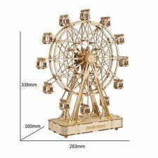 3D-Puzzle Spielzeug Riesenrad mit Musik aus Holz Spieluhr zum Selberbauen