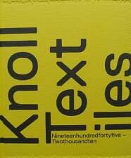 LIVRE/BOOK : KNOLL TEXTILES 1945-2010 (chaise,fauteuil,draperie,tapisserie,chair