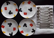 Disney Mickey Mouse Body Parts Dinner Plates Dishes & Silverware / Flatware