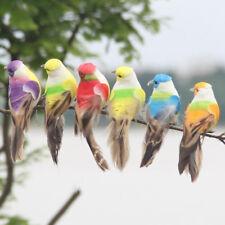 Artificial feather birds nest decorative mini swallows home garden ornaments SG