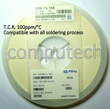 50 pezzi Resistenze 1,5 KOhm 1% 0,25W Viking RC-05F SMD1206 Code1501, 1,5 K Ohm
