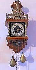 Antique Original Zaandam Zaanse Wall Clock by Wuba - FREE WORLDWIDE SHIPPING