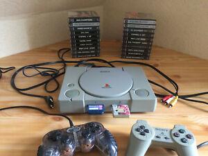 Sony PlayStation 1 + 21 Spiele