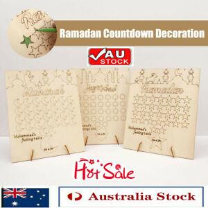 Eid Graffiti Calendar Wooden Home Decorations Mubarak Ramadan Countdown Gifts IW