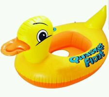 Duck Shape Kids Baby Inflatable  Swimming Pool Raft Floating Seat Boat Ring