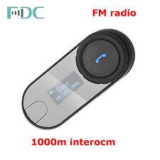 FDC T-COMSC w/ LCD FM Motorcycle Helmet BT Bluetooth Intercom Headset Talkback