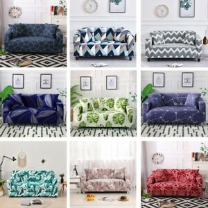 Printed Sofa Cover 2 3 4 Seater Stretch Couch Cover L Shape Need 2pcs Washable