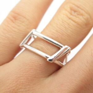 Tiffany & Co. Frank Gehry Vintage 925 Sterling Silver Open Torque Ring Size 6