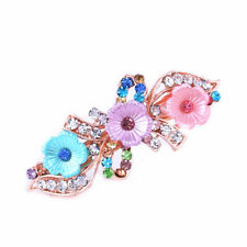 Exquisite Women Faux Pearl Clip Barrette Crystal Hairpin Hair Trinkets SH