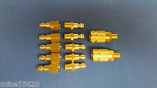 "AIR LINE FITTINGS, PK  COUPLINGS & ADAPTORS 1/4"" B.S.P. RYCO COMPATABLE"