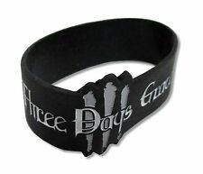 THREE DAYS GRACE DIE CUT BLACK SILICONE WRISTBAND NEW NWT ROCK BAND MUSIC 3DG