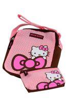 Hello Kitty Girls Pink & White Dotty School Children's Cat Shoulder Bag & Purse