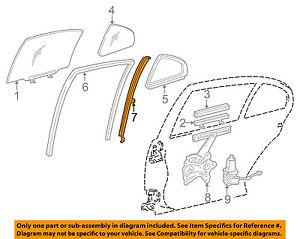 67407-30210 Toyota Bar sub-assy, rear door window division, rh 6740730210, New G