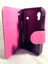 pink WALLET Case with Card Slots for Samsung Galaxy Ace GT-S5830/GT-S5830iPlain