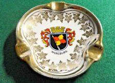 Vintage Waldershof Bavaria Germany~Wurzburg Crest Ash/Trinket Tray~22K Gold Trim