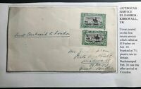 1936 El Fasher Sudan First Return Flight Airmail Cover FFC To England