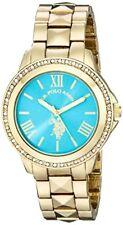 Accutime Watch Corp. U.S. Polo Assn. Womens Analog Display Quartz Gold