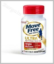 Schiff Move Free Ultra Triple Action 75 Tiny Tablets with UC II Free Shipping