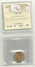 1943  Canada 5 Cent ICCS MS-64