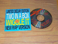 Two in a Box-Wiggle IT/dance-Street 3 Track Maxi-CD 1991 (cardsleave)