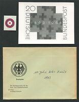 BUND FOTO-ESSAY 400 ROTES KREUZ 1963 RED CROSS PHOTO-ESSAY PROOF RARE!! e504