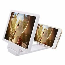 Universal Mobile Screen Magnifier 3D Movie Video Screen Bracket Enlarged White