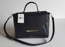 Kate Spade New York Camden Way Palermo Leather Satchel Bag Purse,Black W/ Gold